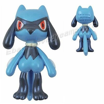 "Lovely Nintendo TOMY Pokemon Lucario 4.5cm/1.8"" Authentic PVC Mini Figure #448"