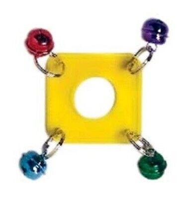 Prevue Pet Products Rainbow Mini Acrylic Wacky Wafer Small or Medium Bird Toy
