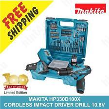 MAKITA HP330D100X CORDLESS IMPACT DRIVER DRILL 10.8V