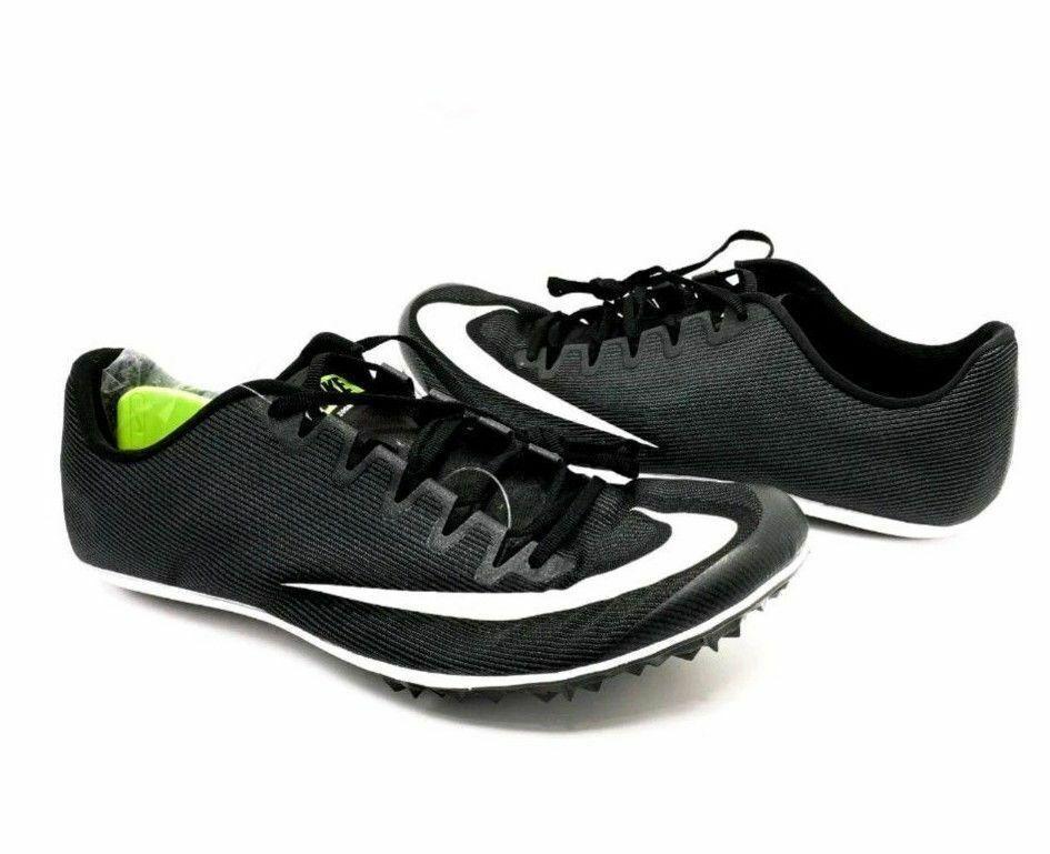 Nike Nike Nike Zoom 400 Track Racing Spikes nero bianca Unisex Uomo Sz 10.5 12 AA1205-001 3bf85a