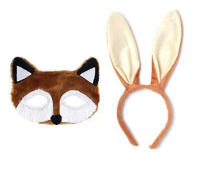 Fantastic Mr Brown Fox Eye Mask Or Rabbit Hairband Ears Fancy Dress Accessory Ebay