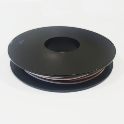 0,47 €//m 10m gemelo galon 2x 0,14mm² Marrón//Blanco zwillingslitze cable