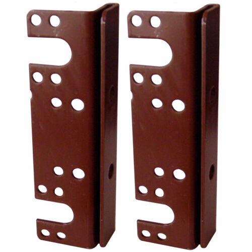 """2 Pack 6/"""" Headboard Footboard Bed Rail Hanger Brackets For 2/"""" Double Hooks"""