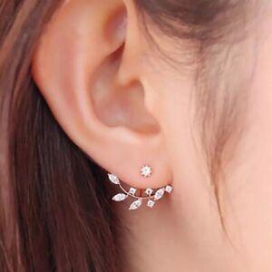 Womens Earrings Stud Dangle Drop Leaf Round Jewellery Fashion Gift Silver  Gold   eBay