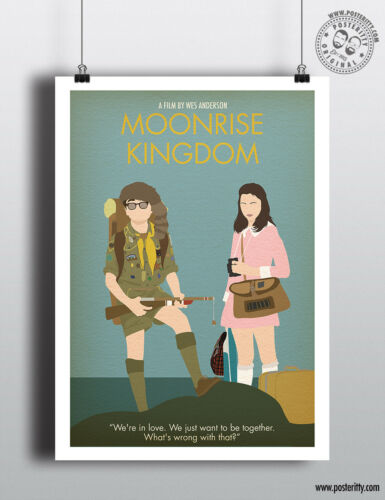 MOONRISE KINGDOM Minimalist Movie Poster Minimal Print Wes Anderson Art Film