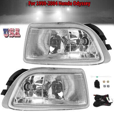1 Pair Yellow Len Driving Fog Lights Lamp 1999-2004 Honda Odyssey