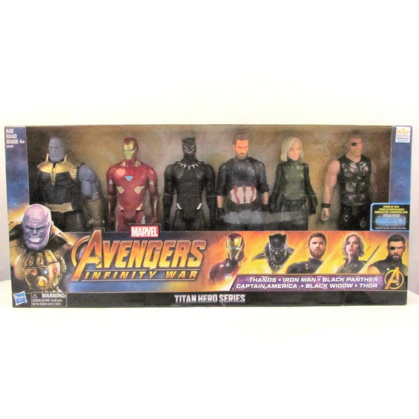 Marvel Avengers Infinity War Titan Hero Figures 6-Pack Walmart Exclusive NEW NIB