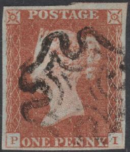 1841-SG8-1d-RED-BROWN-PLATE-21-FINE-USED-4-MARGINS-MALTESE-CROSS-PI