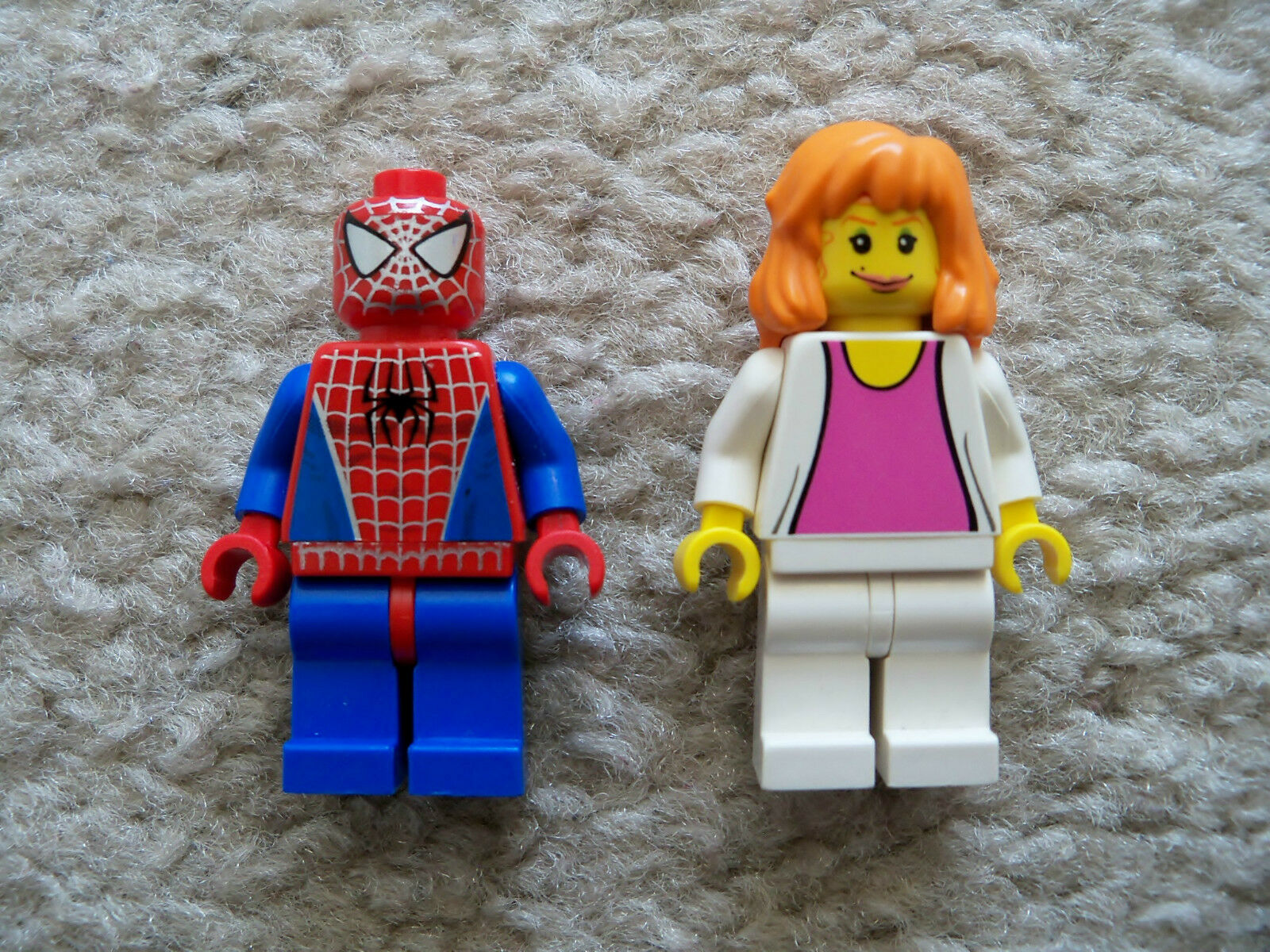 LEGO Spiderman - Rare Original Jane & Spider-Man Minifigs - 4852 - Excellent