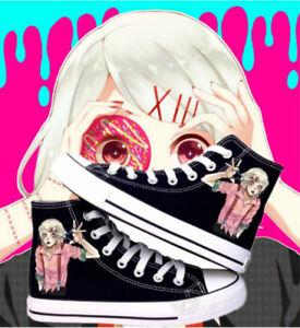 Tokyo Ghoul JUZO SUZUYA REI cosplay canvas shoes High Top Plimsolls Sneakers M