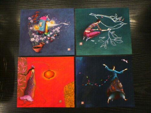 ++ + 4 Postkarten im Querformat von Gaelle Boissonnard ++ NEU