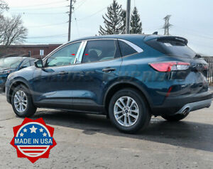 2020-2021-Ford-Escape-w-KP-cutout-4Pc-Chrome-Pillar-Post-Trim-Door-Cover