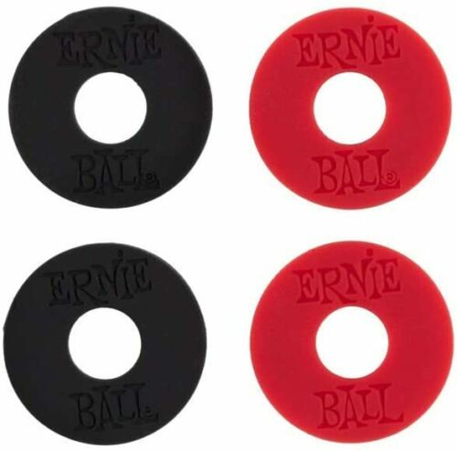 Ernie Ball Strap Blocks P04603 Pack of 4 2 red and 2 black
