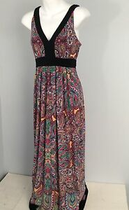 Women S Eci New York Maxi Dress Size 4 Empire Waist Gorgeous Colors