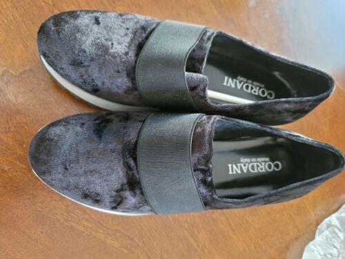 Cordani black velvet shoes