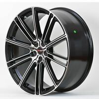 4 Gwg Wheels 17 Inch Black Machined Flow Rims Fits Honda Civic Si 2006-15