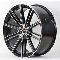 4 Gwg Wheels 17 Inch Black Machined Flow Rims Fits Honda Civic Si 2006-15
