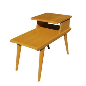 Details About Vintage Mid Century Heywood Wakefield 2 Tier Side Table Mr14751 50 Off