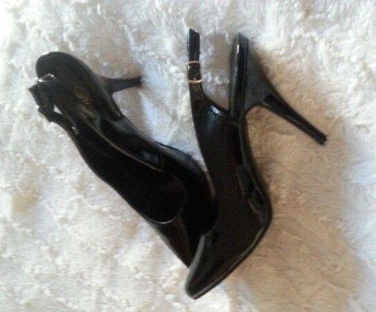 sexy Lack Slings /high heels schwarz  Gr 45- gebraucht