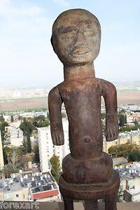 Antique-Lobi-Burkina-Faso-Figurine-Hand-Carved-Hard-Wood-Makonde-Statue-24-034-RARE