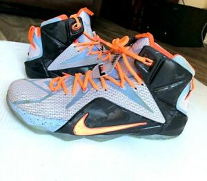 low priced 947c5 93d8a Details about Nike Lebron James 12 XII Sz 12 Easter Aluminum Sunset Glow  Black 684593 488