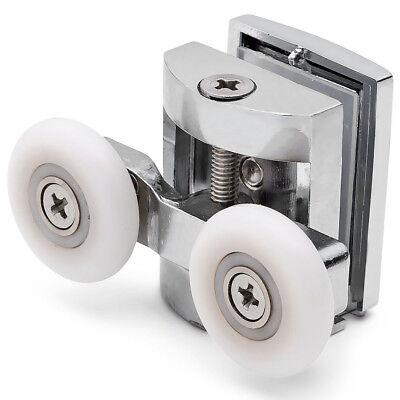 4 x Single Bottom Zinc Alloy Shower Door Rollers//Runners//Wheels 23mm L070