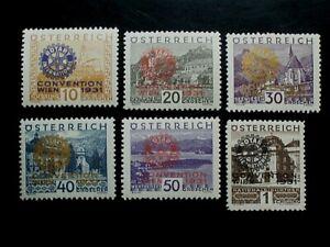 ANK 518/23, ROTARY KONGRESS, saubere Marken mit Falzrest, KW 300,-