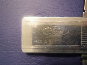 Vintage Ford Motor Company Money Clip/Dual Blades/File By Imperial MADE IN USA
