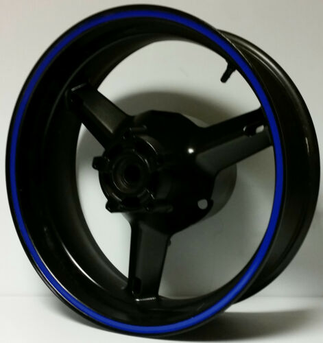 BLUE REFLECTIVE WHEEL STRIPES RIM STICKERS TAPE DECAL KAWASAKI NINJA EX650R 650