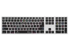 Lightroom QWERTY Abdeckung für Apple Ultra-Thin Keyboard Alu Tastatur mit Ziffer