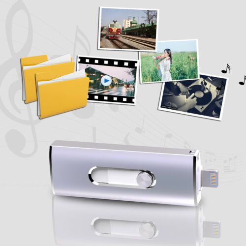 64GB Flash Drive USB Memory Stick For Apple iPhone X 8 7 Plus 6 6S OTG Dual Port
