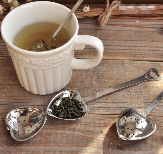 Heart Shape Stainless Steel Tea Infuser Spoon Strainer Steeper Handle Shower HOC