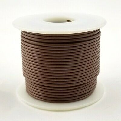 UL1007 PVC Hook Up Wire 100ft Roll 300V 20 AWG Gauge Solid BROWN 300 Volt