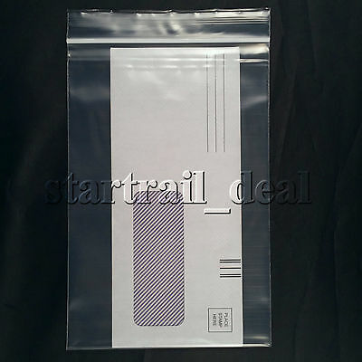 "100 X Clear 3 X 5"" 2mil Reclosable Resealable Ziplock Poly Plastic Small Bags"