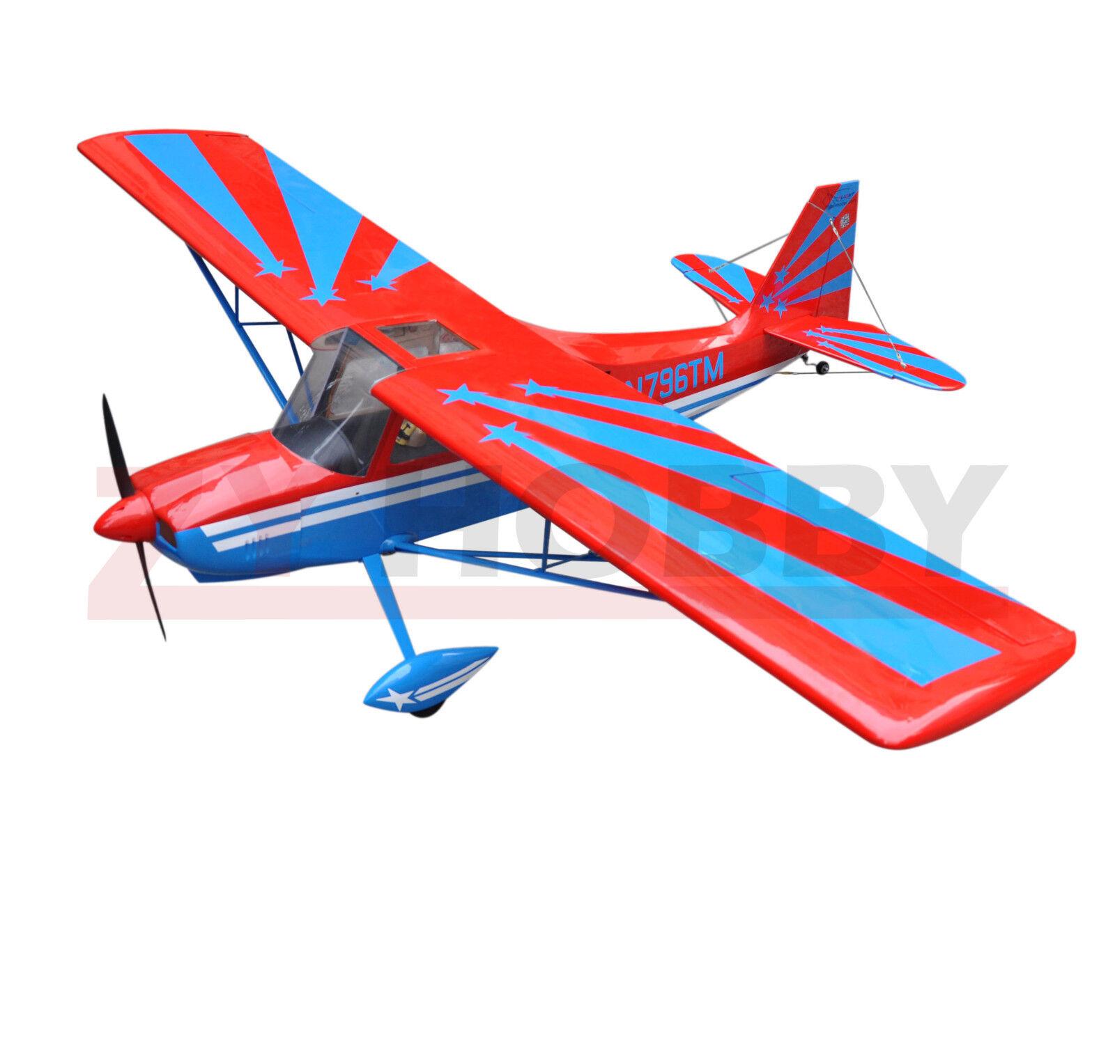 Super Decathlon 72  1828.8mm Nitro&Electric RC Wooden Plane 3D  Aircraft rosso ARF  miglior prezzo