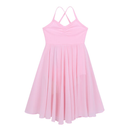 US Girls Ballet Tutu Skirt Chiffon Leotard Dress Dance Fancy Costume Dancewear