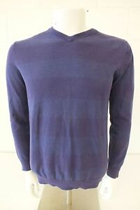 Quiksilver Purple V-Neck Cotton Sweater Men's Medium Satisfaction Guaranteed