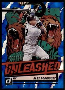 2021 Donruss Baseball Unleashed Blue #23 Alex Rodriguez - New York Yankees /249