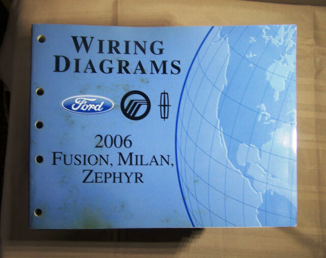 2006 Ford Fusion Milan Zephyr Wiring Diagrams Oem Factory