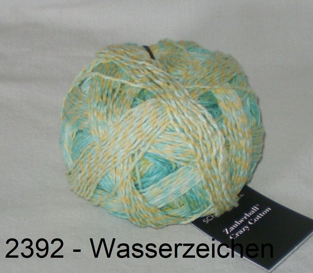 Zauberball Crazy Cotton Schoppel Fb 2392  Wasserzeichen 100g