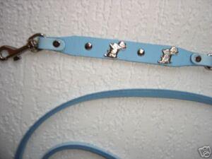 * Westi * Chiens Corde-corde, Cuir 130cm, Bleu (09.09)-afficher Le Titre D'origine