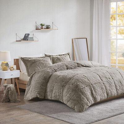 Intelligent Design Malea Shaggy Faux Fur Comforter Set Ebay
