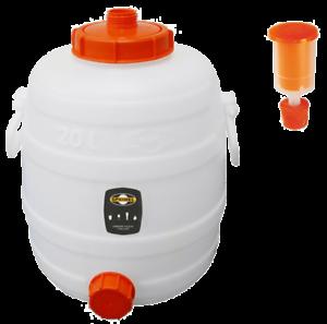 Speidel Fass Getränkefass Mostfass 20L lebensmittelecht rund mit Gärspund