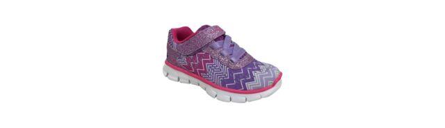S Sport By Skechers Toddler Girls Purple Zig Zagz Performance Athletic Shoes 7