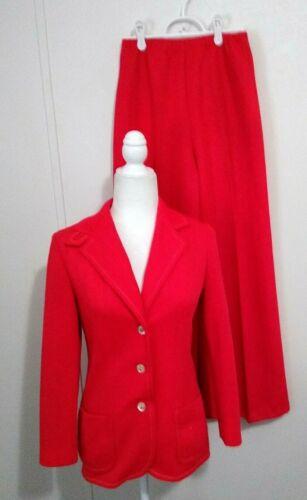 Vintage 70s Polyester Pantsuit Women's Leslie Fay