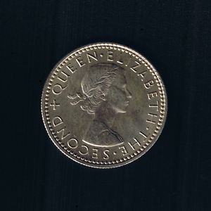 New Zealand - 1965, Sixpence - Queen ELIZABETH II
