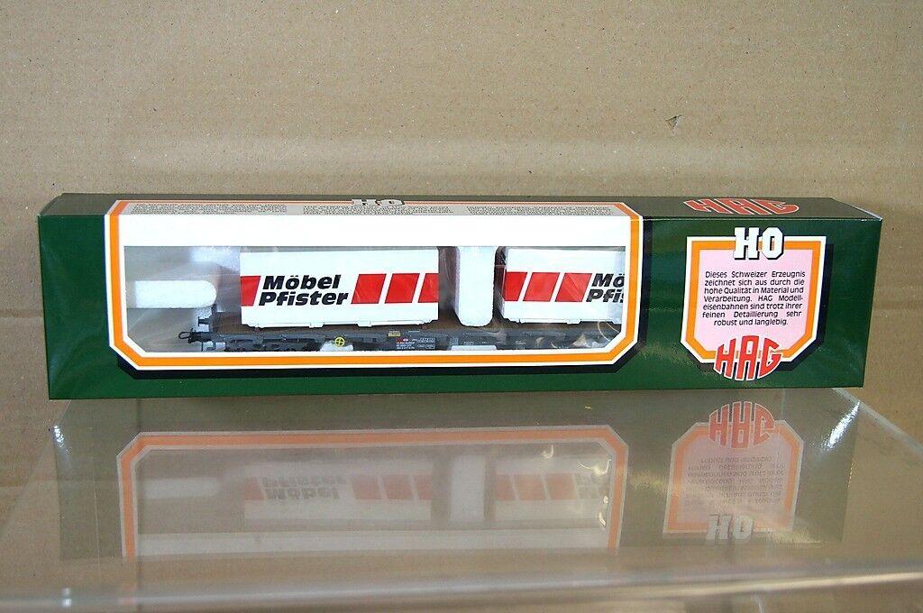 HAG 394 AC SBB CFF Mobel Pfister RS autoRELLO piatto Container Vagone MIB NC