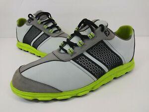 FootJoy Superlites CT Golf Bike Toe Shoes Grey 45052 Lace Up Women's Size 6 M