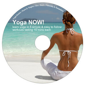 Learn-Yoga-NOW-DVD-5-Exercise-Workouts-Weight-Loss-Flexibility-amp-Relaxation