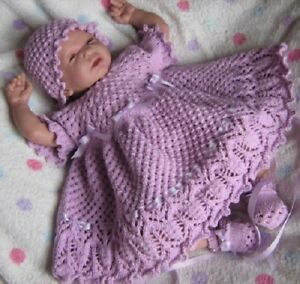 Honeydropdesigns-Lilac-n-Lace-PAPER-KNITTING-PATTERN-Reborn-Baby
